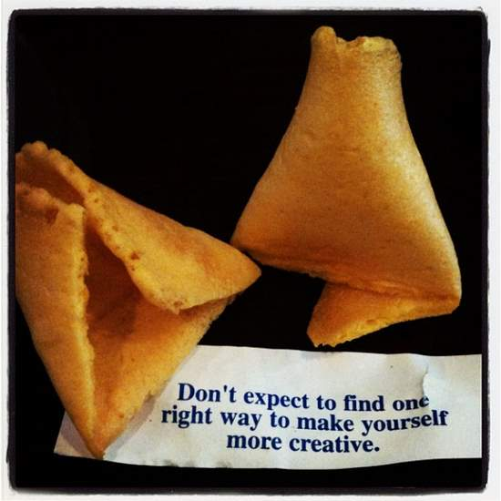 Interesting fortune cookie for a writer. (photo by Tui Snider)