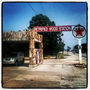 Historic Petrified Wood Travel Station in Decatur, Texas (photo by Tui Snider)