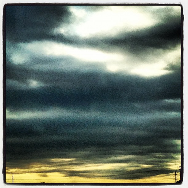 Dramatic Texas sky (photo by Tui Snider)