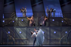 Roundabout Theatre Company's ANYTHING GOES Pictured: Alex Finke, Erich Bergen and Company Photo Credit: © Joan Marcus, 2012