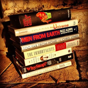 Book spine poetry (photo by Tui Snider)