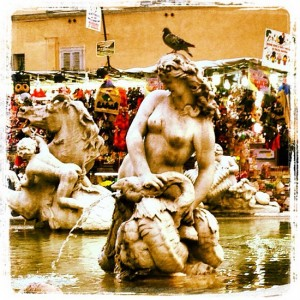Fountain in Rome's Piazza Navona (photo by Tui Snider)