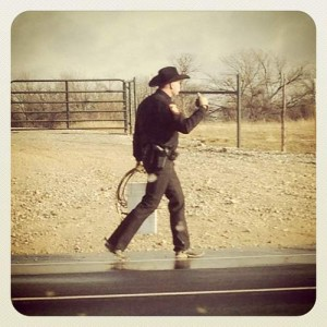 Texas cowboy with a lasso (photo by Tui Snider)
