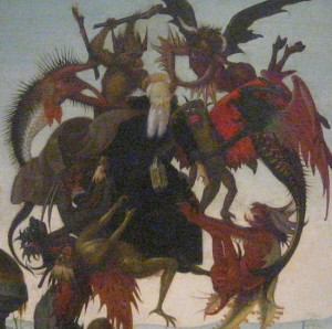 Detail of the Torment of St Anthony painting by Michelangelo in Fort Worth, Texas (photo by Tui Snider)