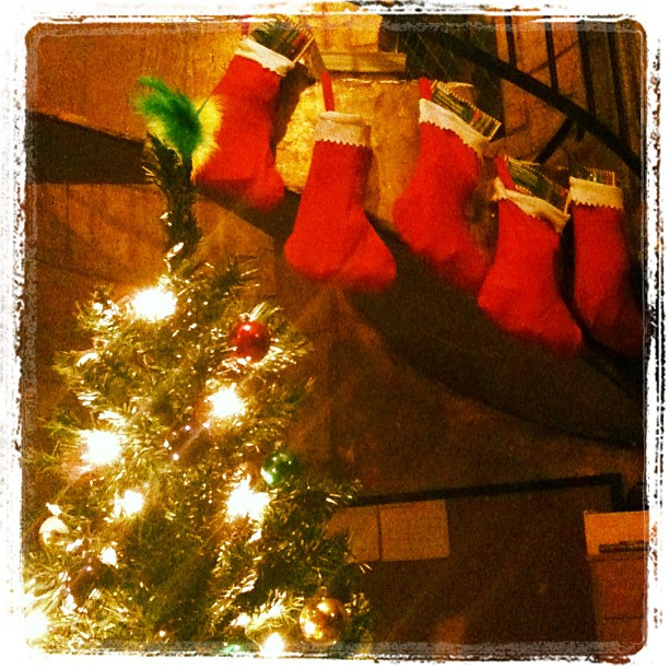 Stockings hung by the chimney with care (photo by Tui Snider)