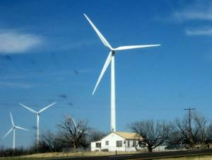 Wind Farm in Eastland, TX (photo by Tui Snider)