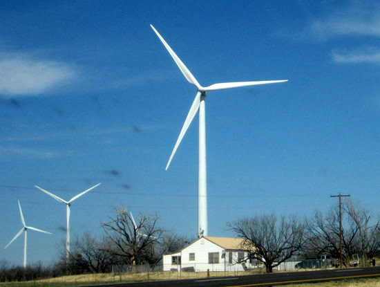 Wind Farm in Eastland, TX (photo by Tui Snider)