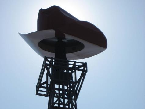 Cowboy hat on the Paris, Texas Eiffel Tower Replica (photo by Tui Snider)