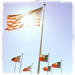 Flags waving in north Texas (photo by Tui Snider)