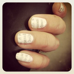 Literary Nails (photo by Tui Snider)