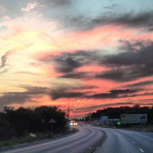 Texas road trip sunset (photo by Tui Snider)