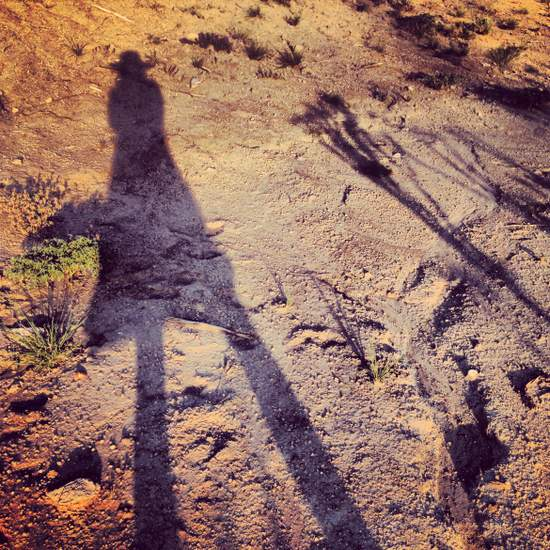 Me & my shadow (photo by Tui Snider)