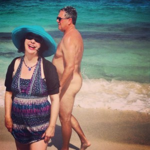 I got photo-bombed by a nude dude! (photo by Tui Snider)