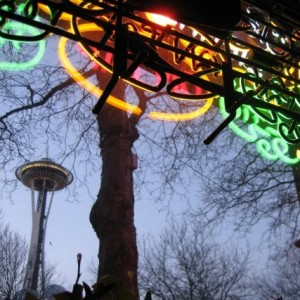 Space Needle & Neon (photo by Tui Snider)