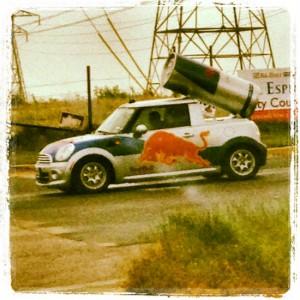 Redbull car in Texas (photo by Tui Snider)