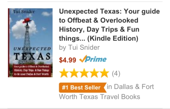 Unexpected Texas is an Amazon Best Seller! (photo by Tui Snider)