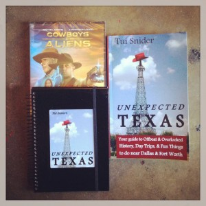 Unexpected Texas #UnexTex book release prizes (photo by Tui Snider)