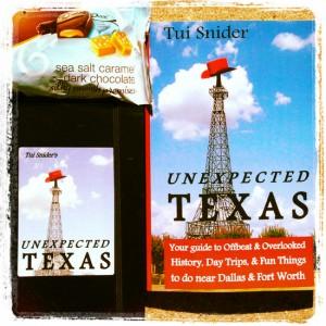 #UnexTex Unexpected Texas book blog tour prizes (photo by Tui Snider)