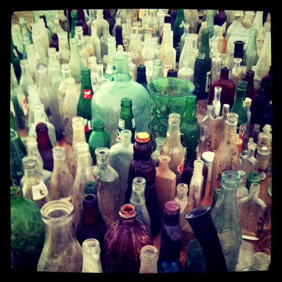 Bottles for sale at Antique Alley Texas (photo by Tui Snider)