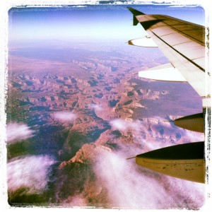 Earth as seen from my window seat (photo by Tui Snider)