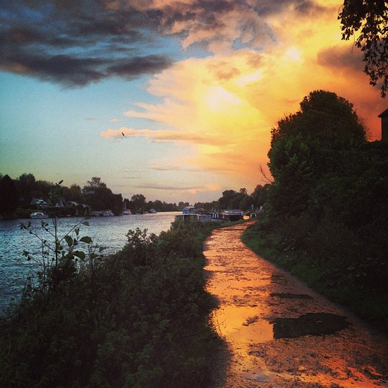Sunset along the Thames in London (photo by Tui Snider)