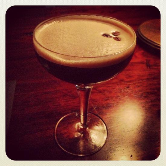 Espresso martini = yum! (photo by Tui Snider)