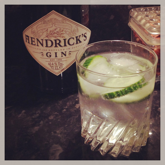 Hendrick's Gin & Tonic with Cucumber Slice (photo by Tui Snider)
