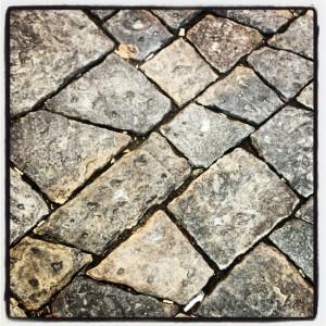 Trapezoid-shaped bricks in Italy (photo by Tui Snider)