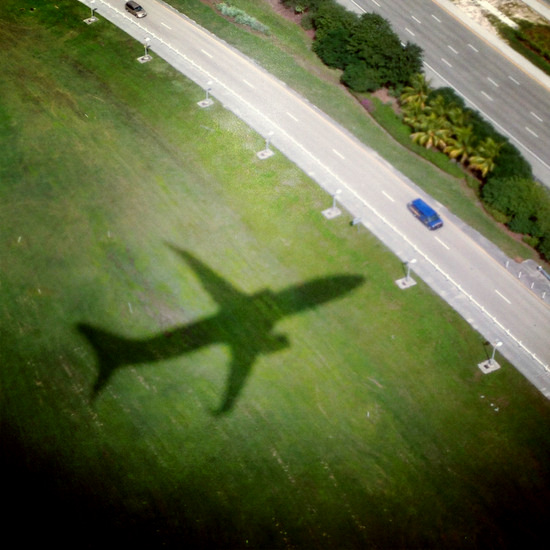Airplane shadow (photo by Tui Snider)