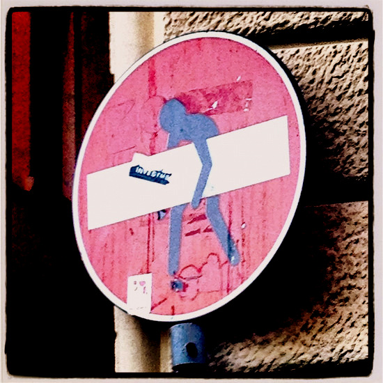 Quirky street sign (photo by Tui Snider)