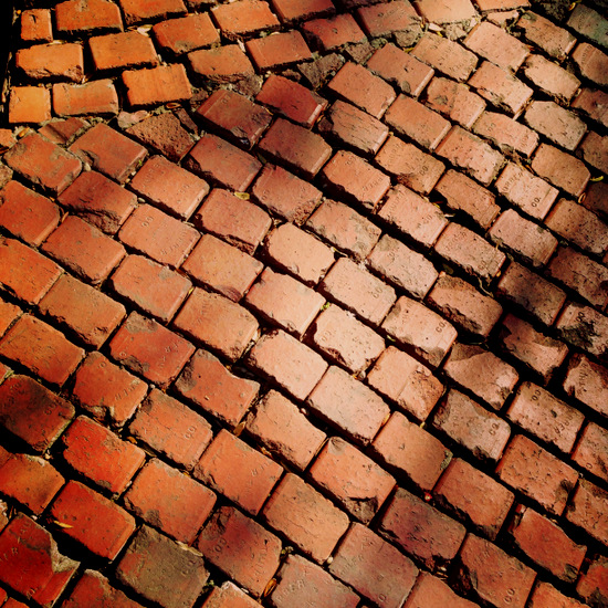 Bricks made in Thurber, Texas (photo by Tui Snider)