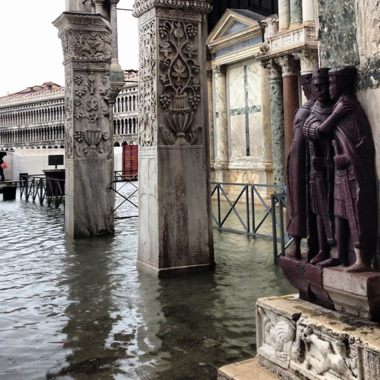 Venice, Italy during Acqua Alta (photo by Tui Snider)