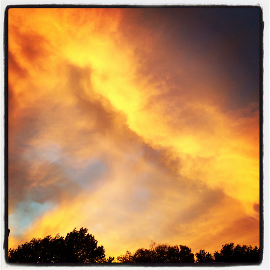 Yellow sky in Texas (photo by Tui Snider)