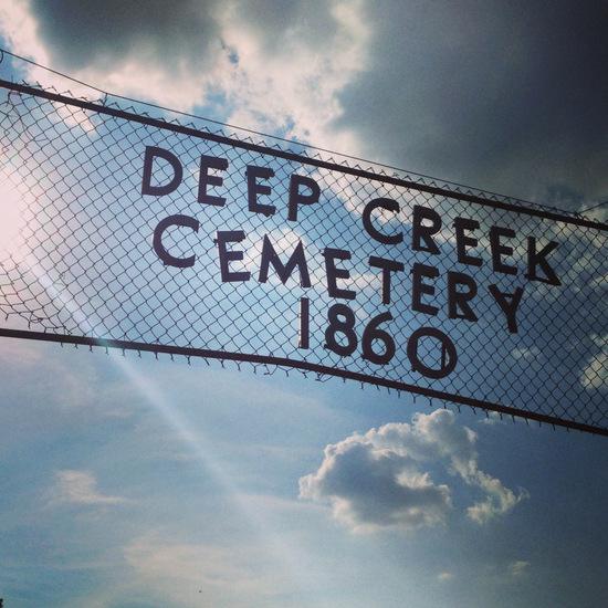 Historic Deep Creek Cemetery in Boyd, Texas (photo by Tui Snider)
