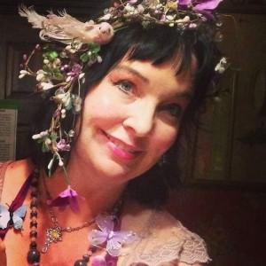 Purple fairy selfie at Scarborough Renaissance Festival (photo by Tui Snider)
