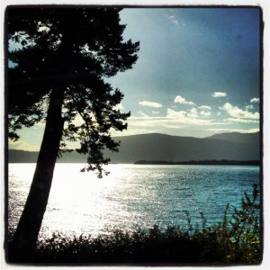 Camping by the lake is divine! (photo by Tui Snider)