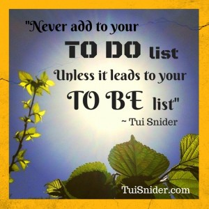 How I feel about to-do lists! (photo & graphic by Tui Snider)
