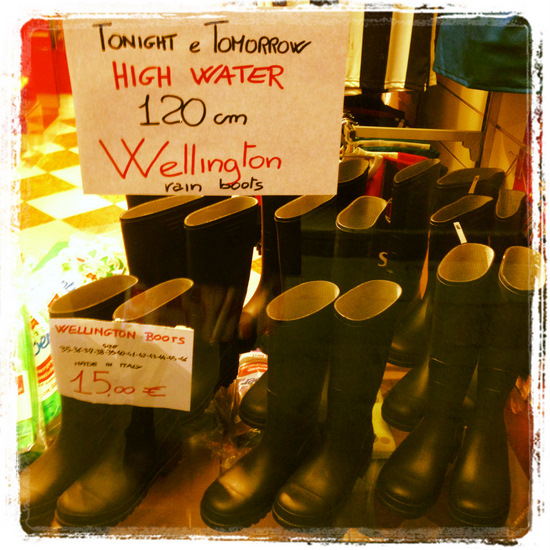 Rubber boots for sale in Venice, Italy (photo by Tui Snider)