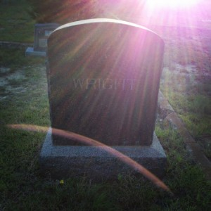 This headstone allegedly glows in Springtown, Texas (photo by Tui Snider)