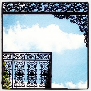 Wrought iron detail in Jefferson, Texas (photo by Tui Snider)