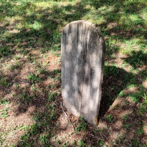 Gravemarker made of bois d'arc wood (photo by Tui Snider)