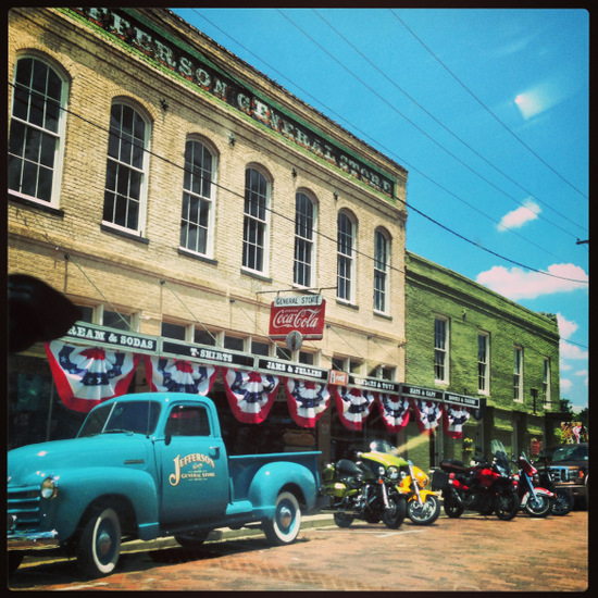 Historic downtown Jefferson, Texas (photo by Tui Snider)