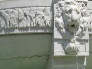 Marble fountain detail in Paris, TX (photo by Tui Snider)