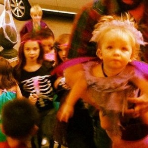 Our house gets mobbed at Halloween! (photo by Tui Snider)