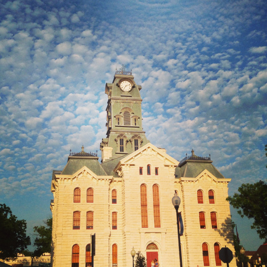 Granbury's stately courthouse (photo by Tui Snider)