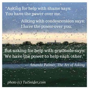 Is it easy for you to ask for help? (image by Tui Snider)
