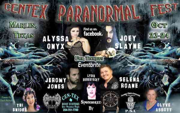 Tui Snider is a guest speaker at CenTex Paranormal Fest in October!
