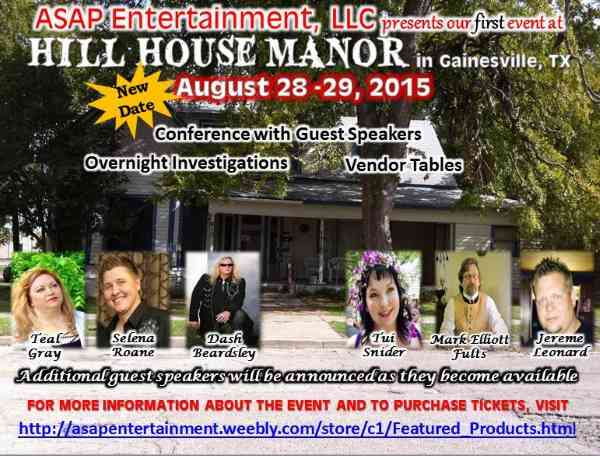 Tui Snider presents at Hill House Manor in August, 2015!