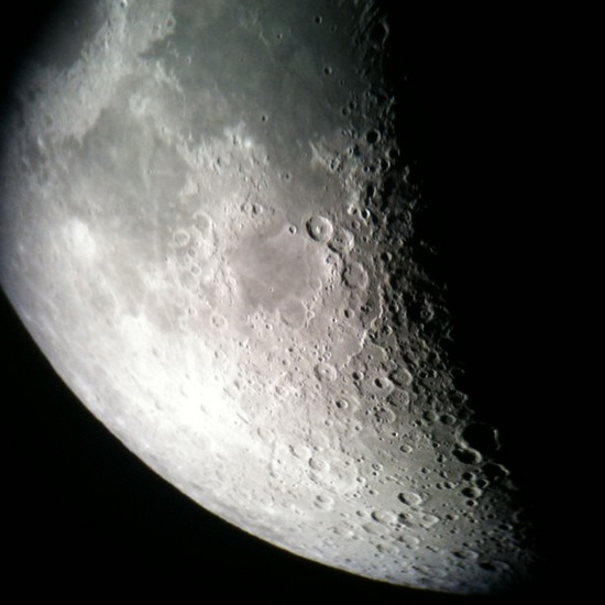 The moon through my iPhone (photo by Tui Snider)