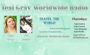 Teal Gray Worldwide Radio